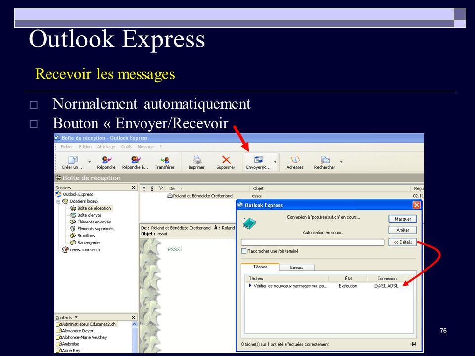 Outlook Express Recevoir les messages