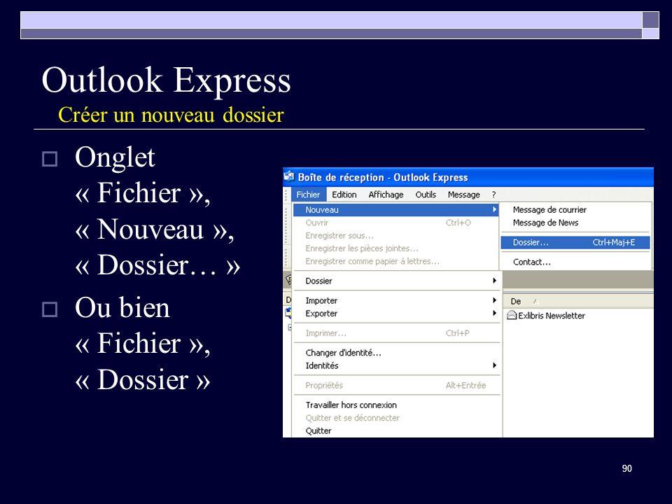 Outlook Express Créer un nouveau dossier