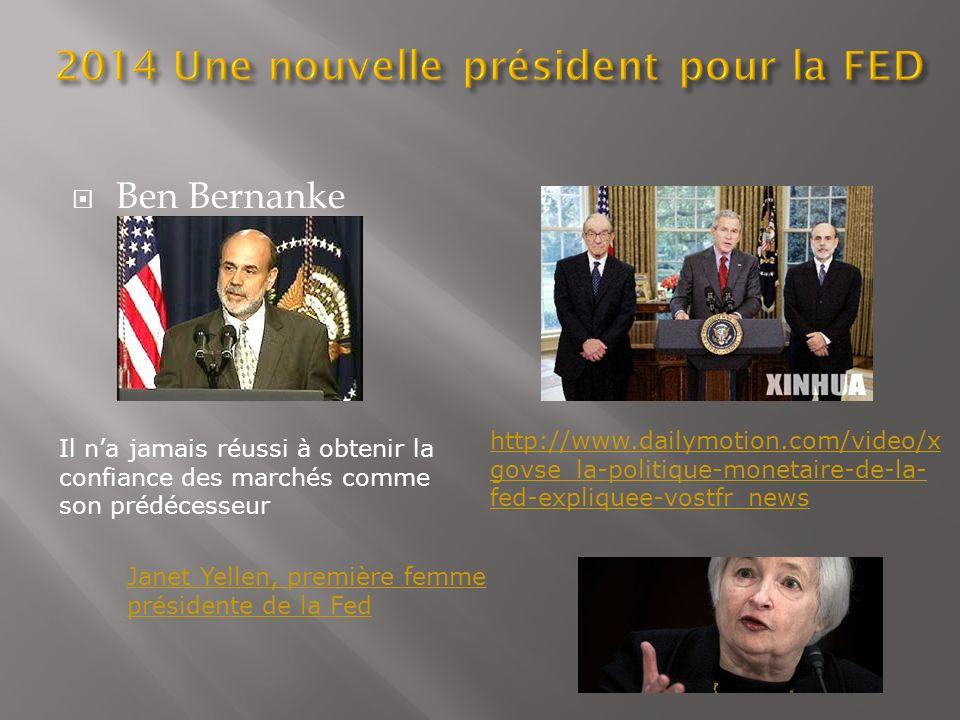 2014 Une nouvelle président pour la FED