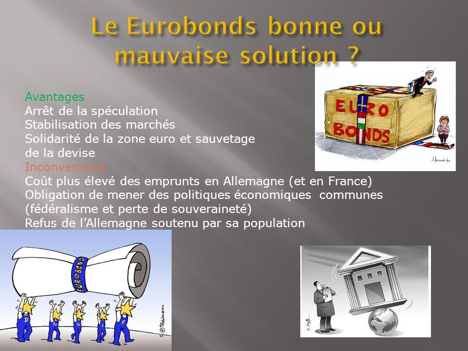Le Eurobonds bonne ou mauvaise solution