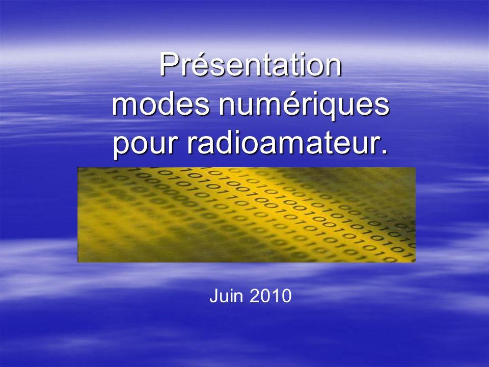 Présentation modes numériques pour radioamateur.