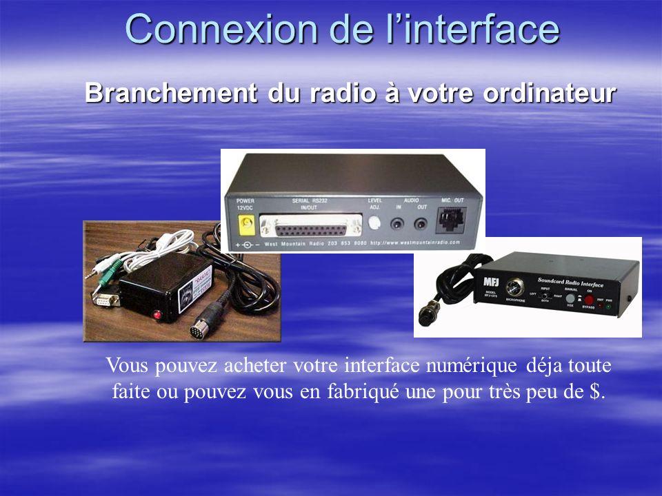 Connexion de l'interface
