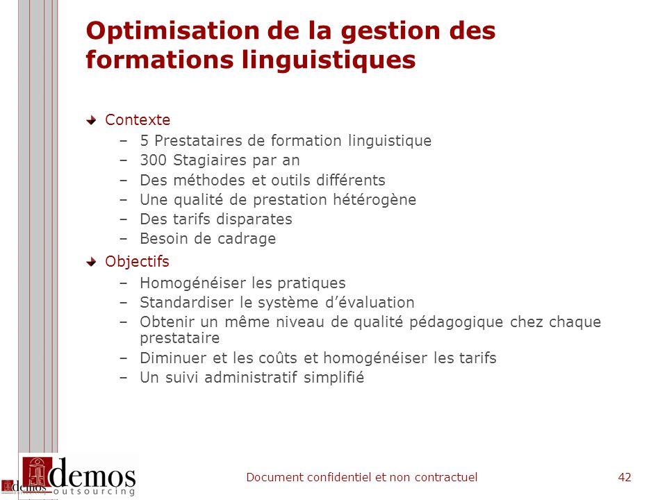 Optimisation de la gestion des formations linguistiques