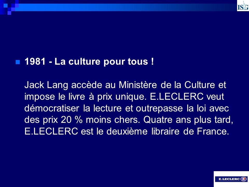 1981 - La culture pour tous .