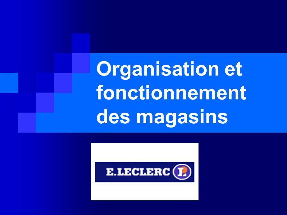 Organisation et fonctionnement des magasins