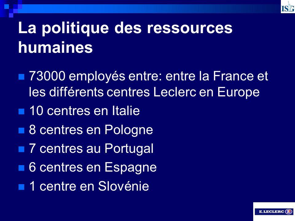 La politique des ressources humaines