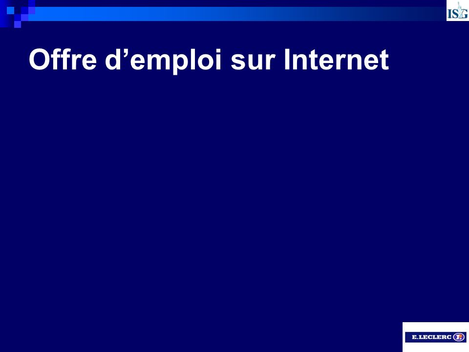 Offre d'emploi sur Internet