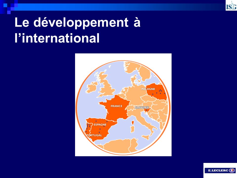 Le développement à l'international