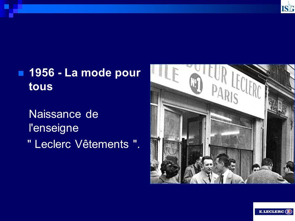 1956 - La mode pour tous Naissance de l enseigne