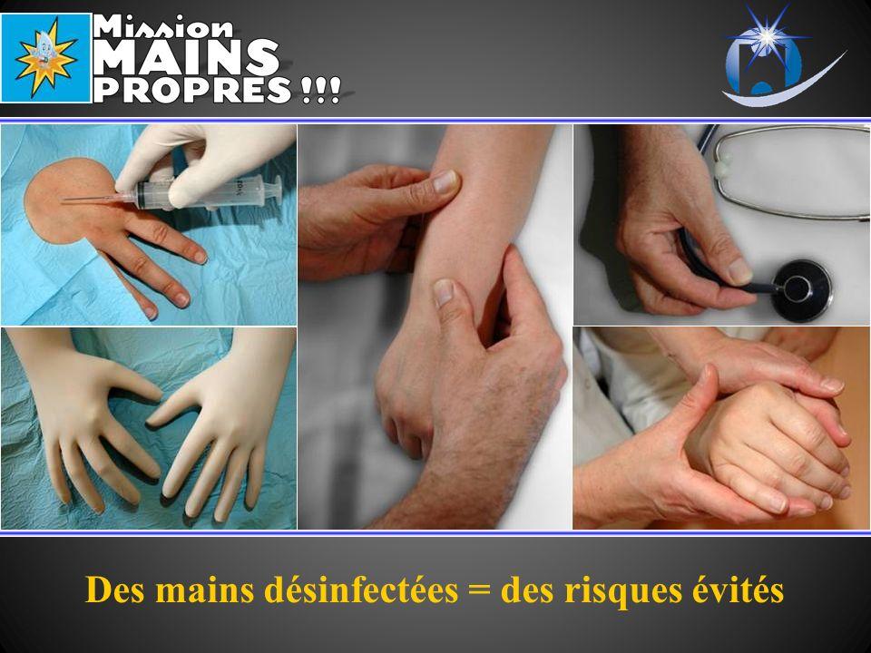 Des mains désinfectées = des risques évités