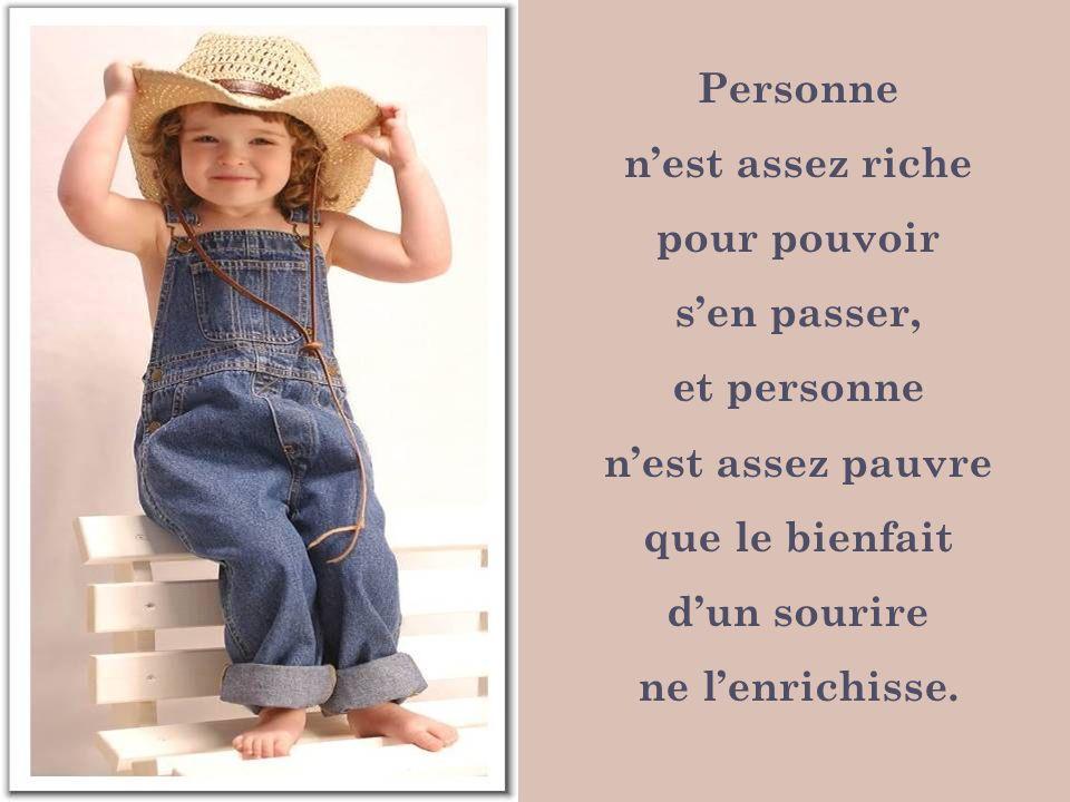 Personne n'est assez riche. pour pouvoir. s'en passer, et personne. n'est assez pauvre. que le bienfait.