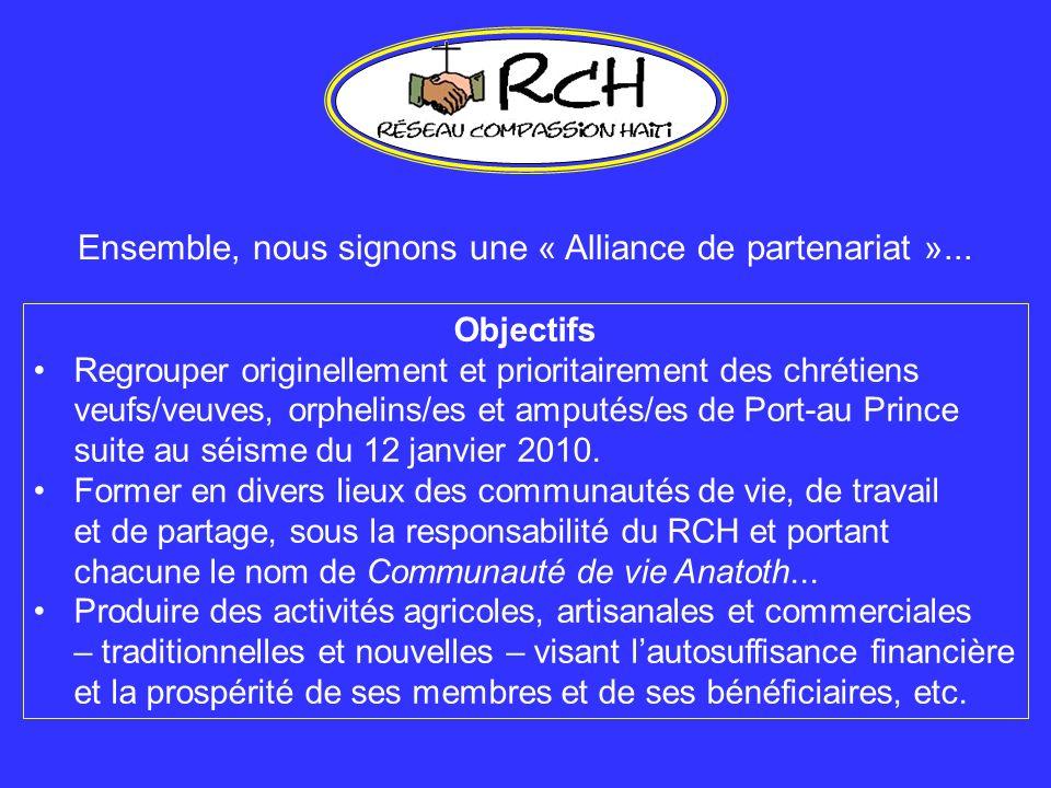 Ensemble, nous signons une « Alliance de partenariat »...