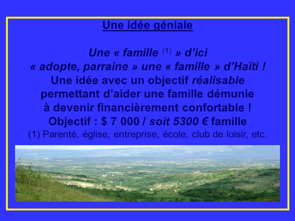 « adopte, parraine » une « famille » d'Haïti !