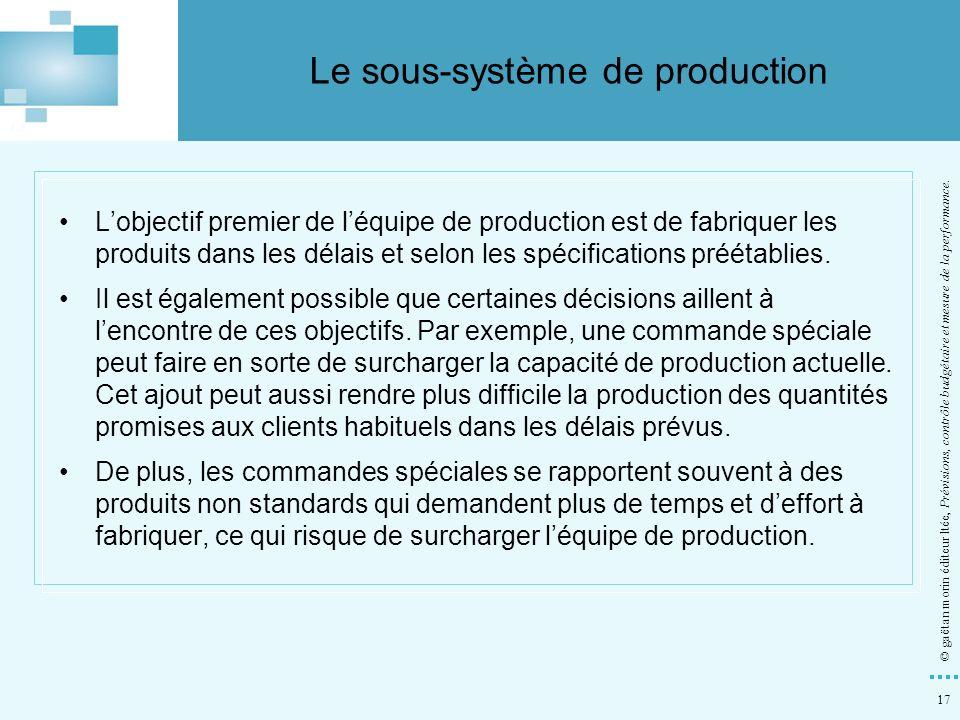 Le sous-système de production