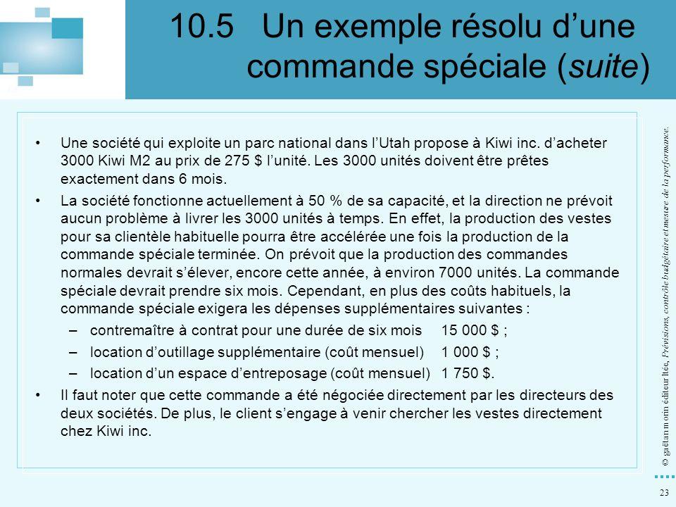 10.5 Un exemple résolu d'une commande spéciale (suite)