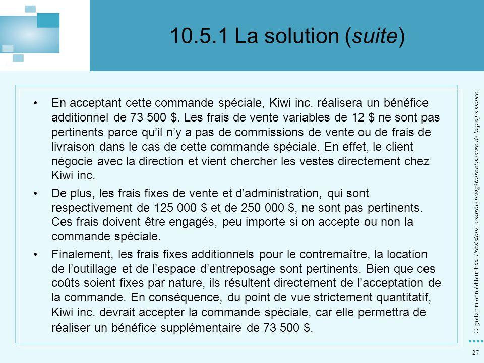 10.5.1 La solution (suite)