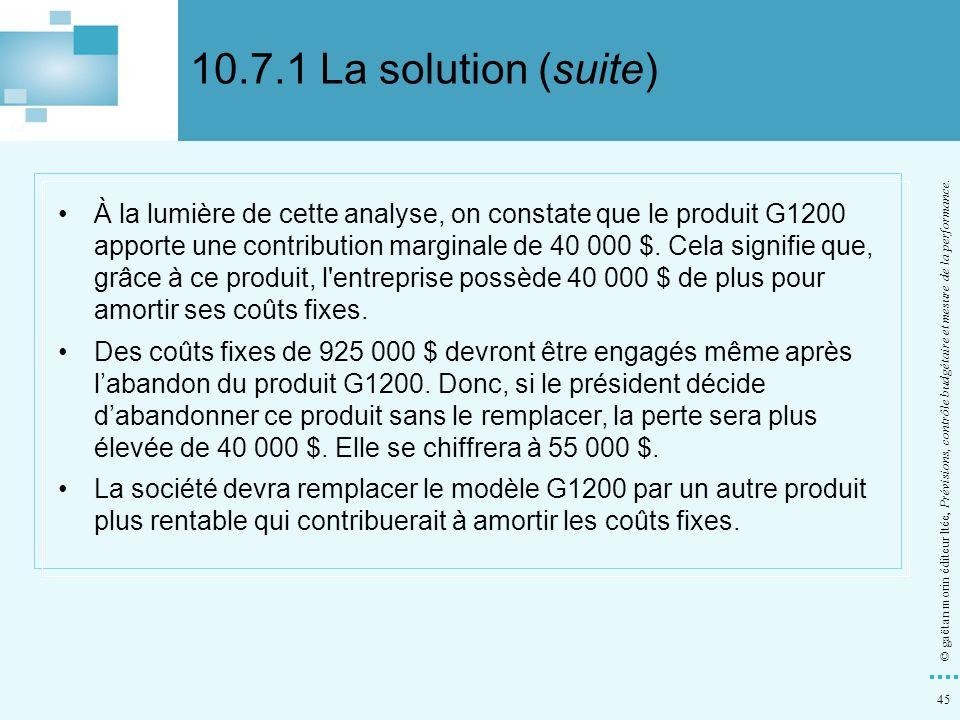 10.7.1 La solution (suite)
