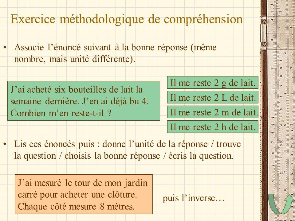 Exercice méthodologique de compréhension