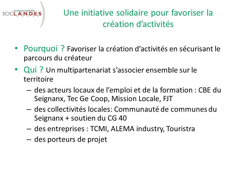 Une initiative solidaire pour favoriser la création d'activités