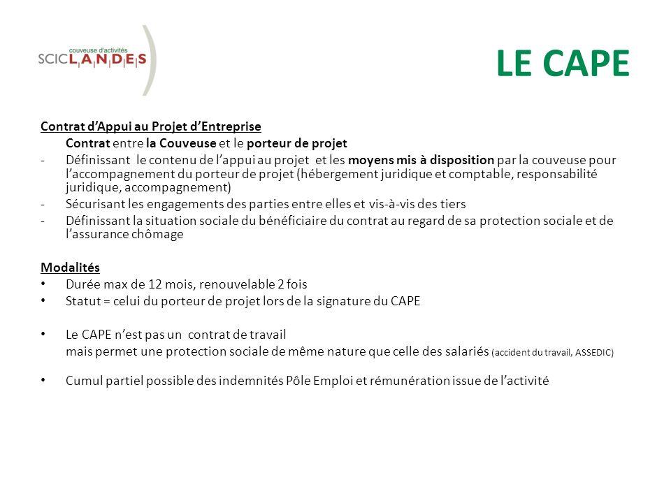 LE CAPE Contrat d'Appui au Projet d'Entreprise