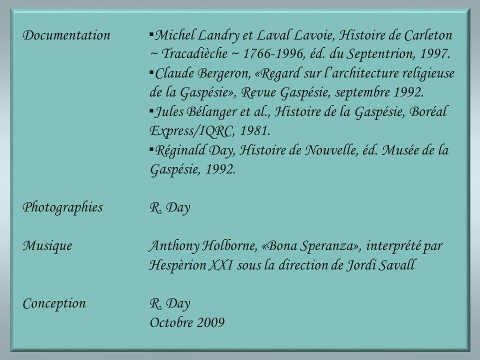 Documentation. ▪Michel Landry et Laval Lavoie, Histoire de Carleton