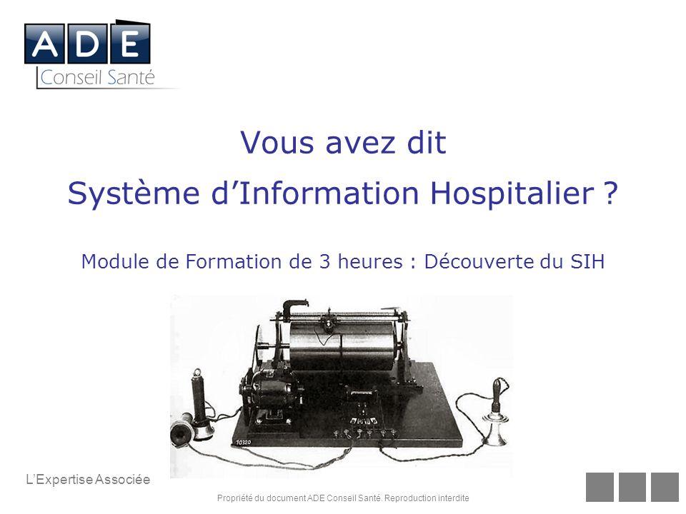 Vous avez dit Système d'Information Hospitalier