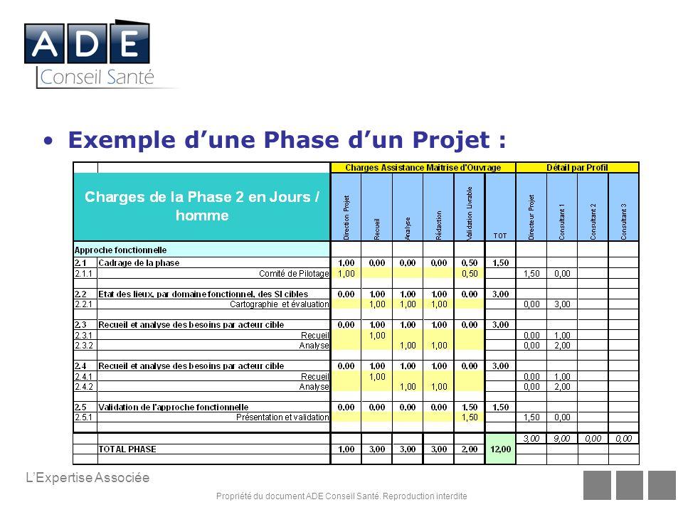 Exemple d'une Phase d'un Projet :