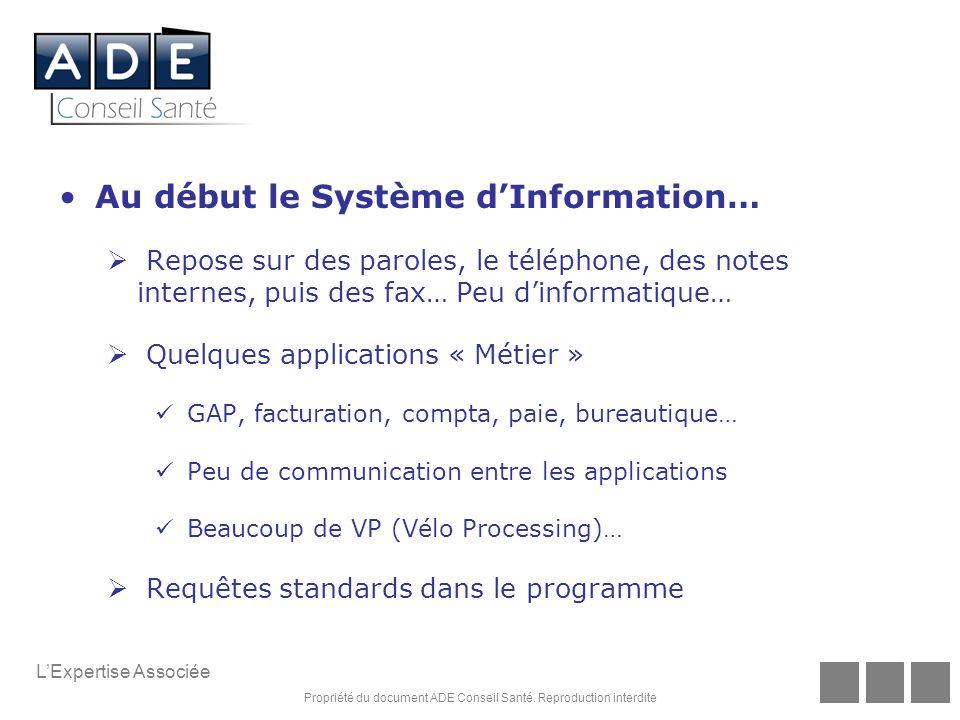 Au début le Système d'Information…