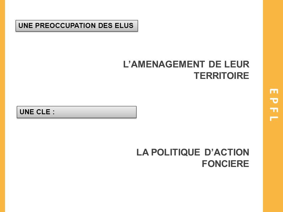 EPFL L'AMENAGEMENT DE LEUR TERRITOIRE LA POLITIQUE D'ACTION FONCIERE