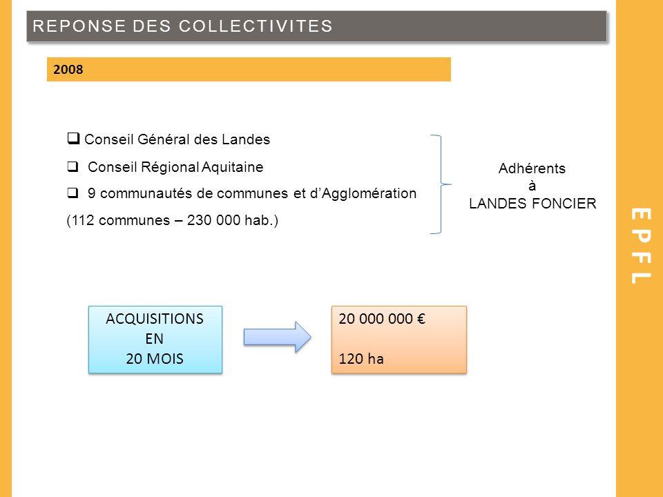EPFL REPONSE DES COLLECTIVITES Conseil Général des Landes ACQUISITIONS