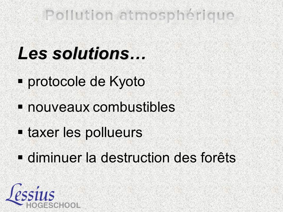 Les solutions… protocole de Kyoto nouveaux combustibles