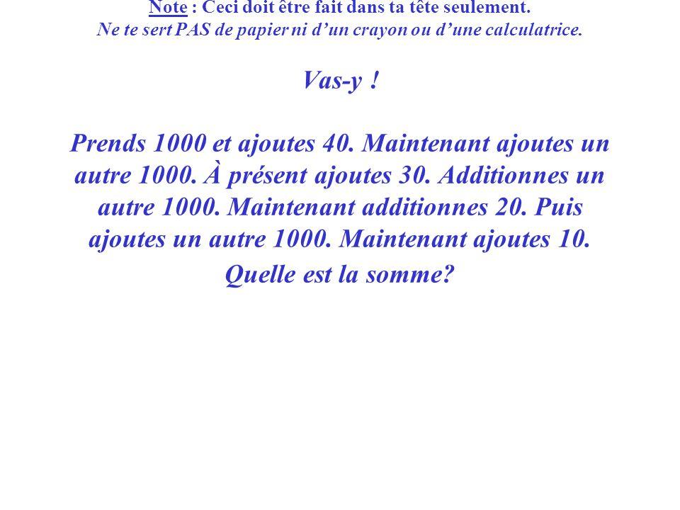 Troisième question : Des maths très truquées