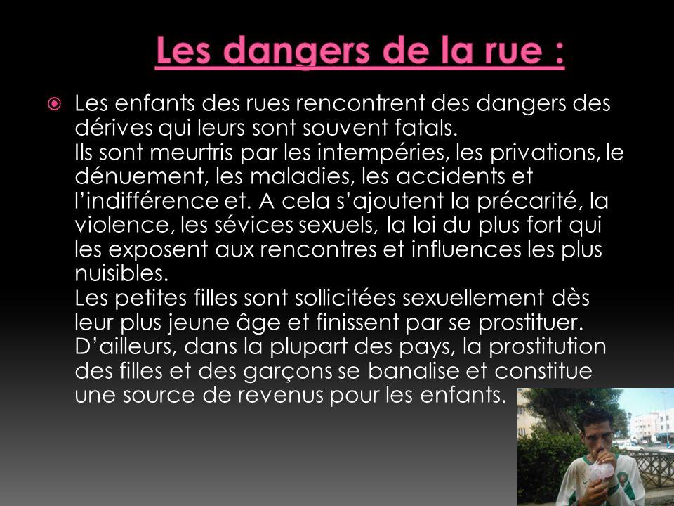 Les dangers de la rue :