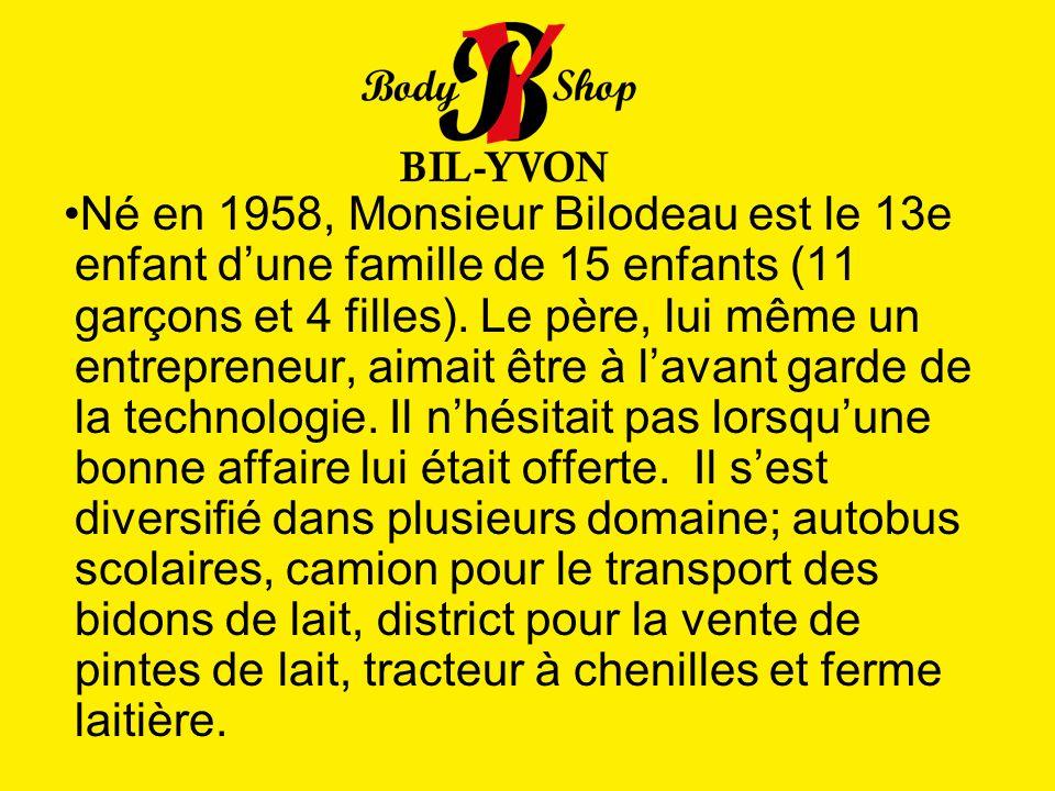 Né en 1958, Monsieur Bilodeau est le 13e enfant d'une famille de 15 enfants (11 garçons et 4 filles).