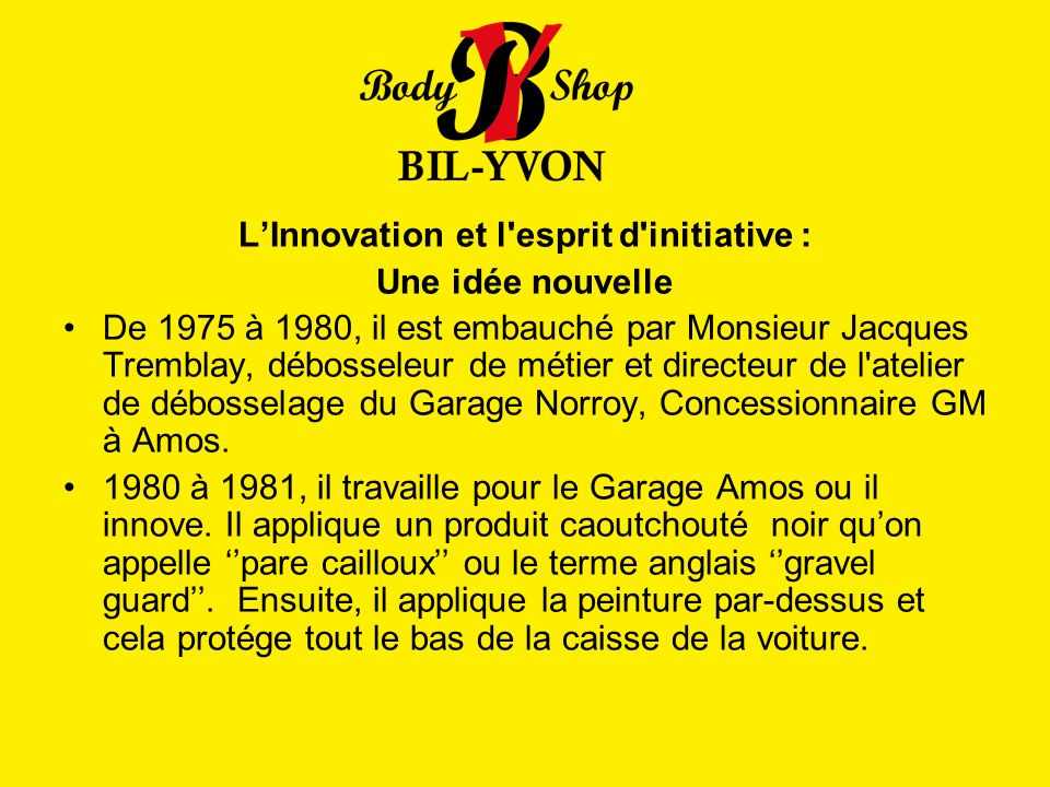 L'Innovation et l esprit d initiative :