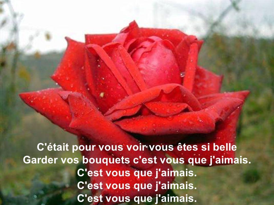 C était pour vous voir vous êtes si belle Garder vos bouquets c est vous que j aimais.