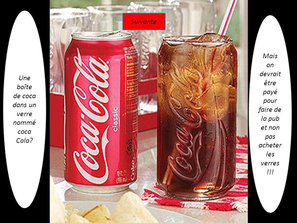 Une boîte de coca dans un verre nommé coca