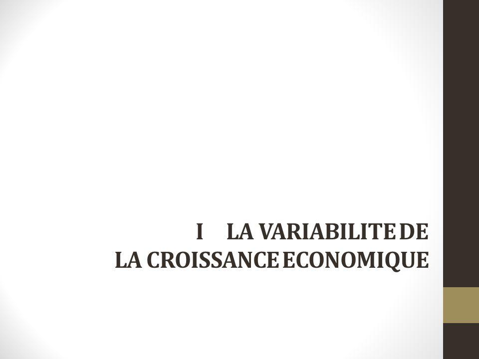I LA VARIABILITE DE LA CROISSANCE ECONOMIQUE