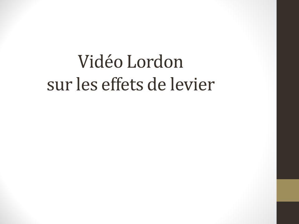 Vidéo Lordon sur les effets de levier