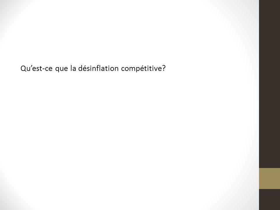 Qu'est-ce que la désinflation compétitive