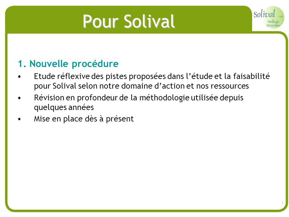 Pour Solival 1. Nouvelle procédure