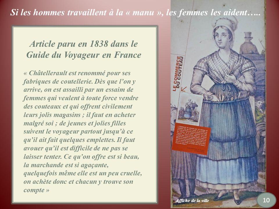 Article paru en 1838 dans le Guide du Voyageur en France