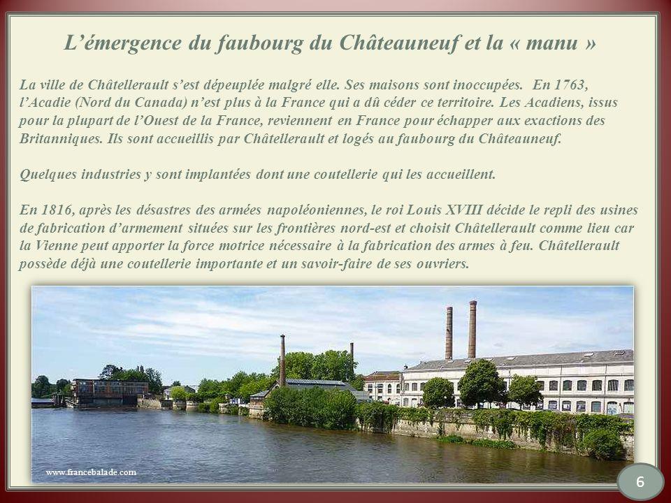 L'émergence du faubourg du Châteauneuf et la « manu »