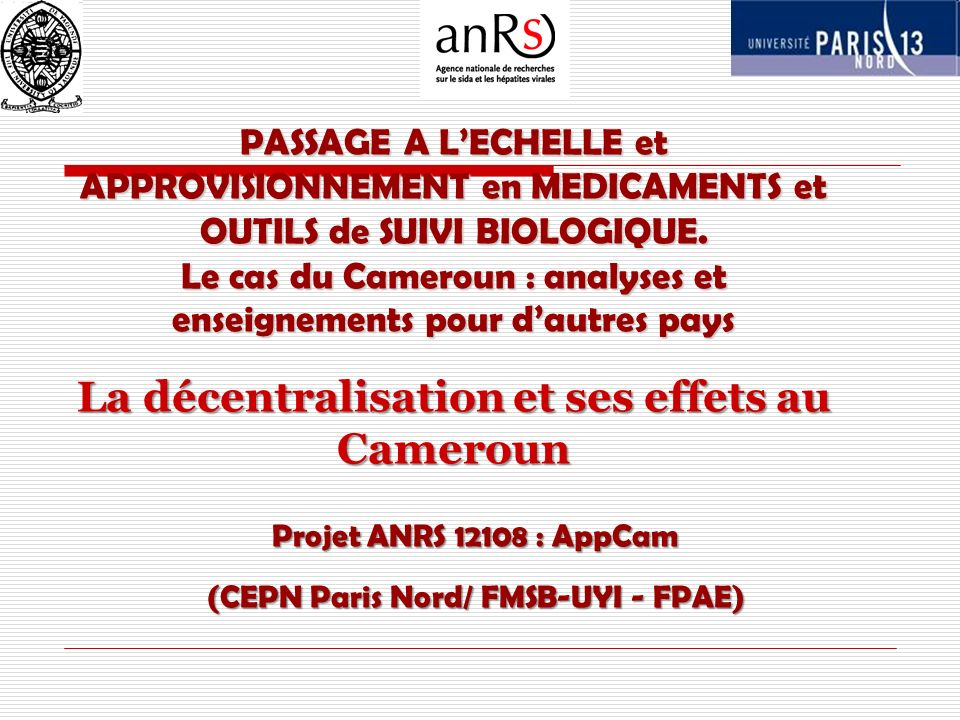 (CEPN Paris Nord/ FMSB-UYI - FPAE)