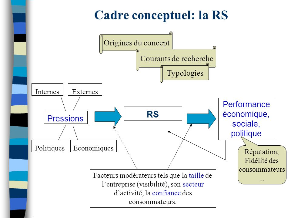 Cadre conceptuel: la RS