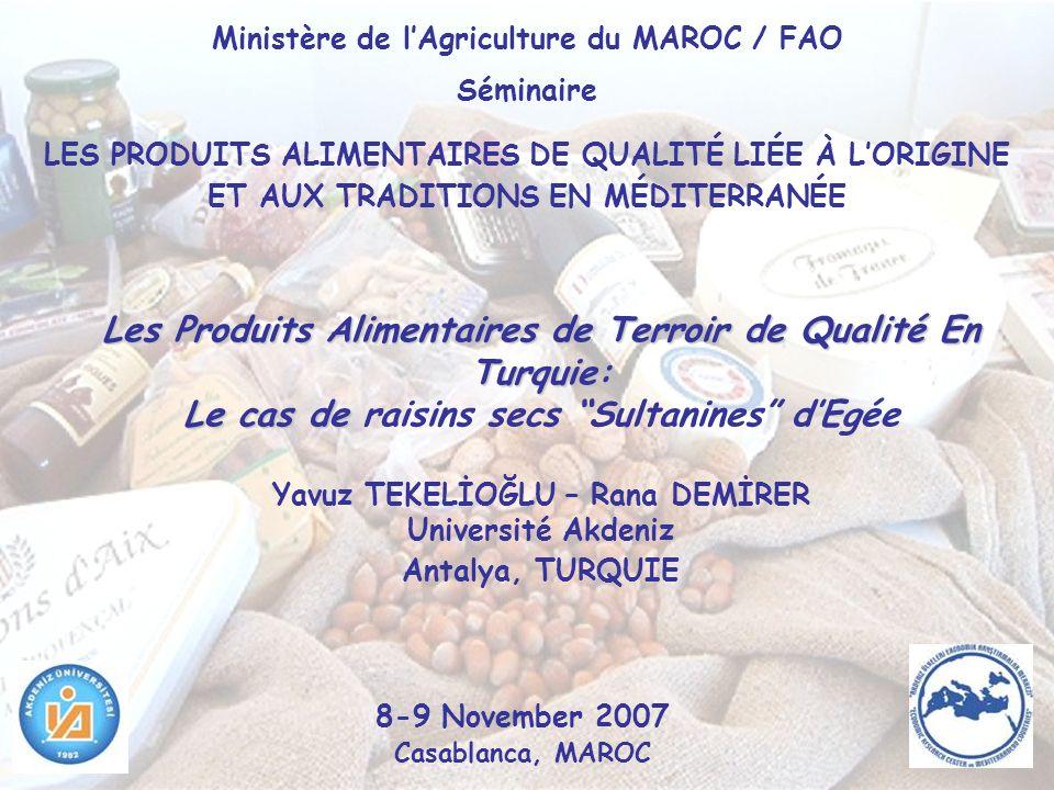 Ministère de l'Agriculture du MAROC / FAO