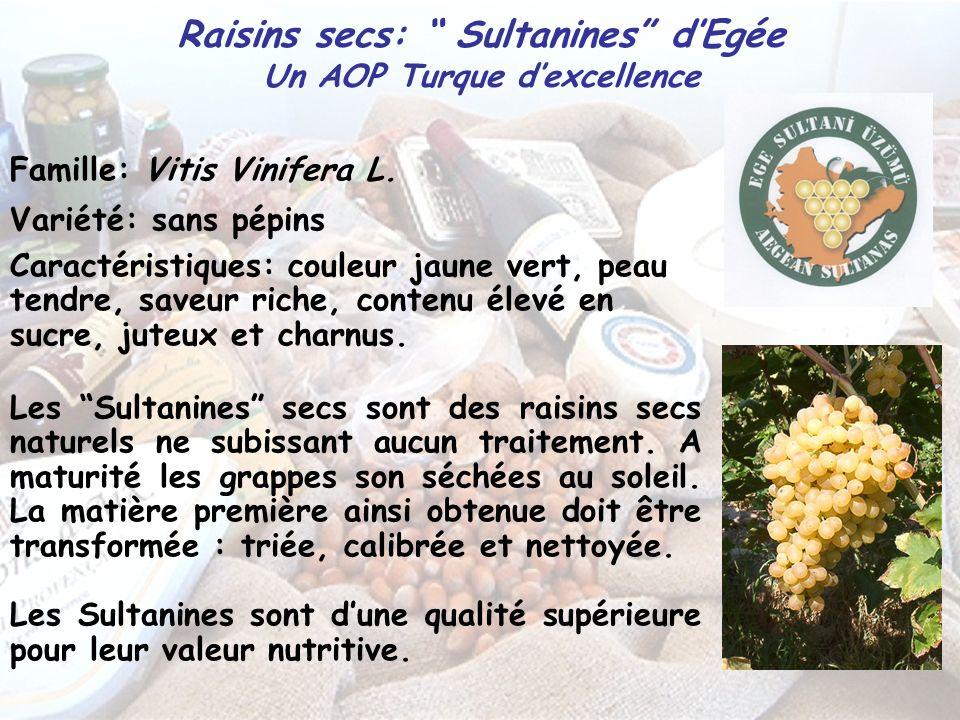 Raisins secs: Sultanines d'Egée Un AOP Turque d'excellence