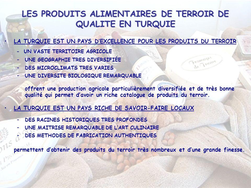LES PRODUITS ALIMENTAIRES DE TERROIR DE QUALITE EN TURQUIE