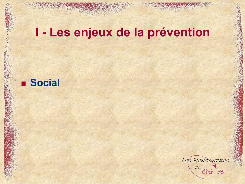 I - Les enjeux de la prévention