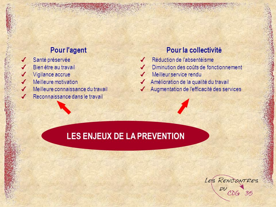 LES ENJEUX DE LA PREVENTION
